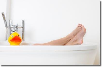 お風呂で簡単にストレッチ!